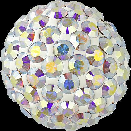 Swarovski - Halve perler med rhinsten