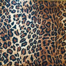 Leopard print brun/sort lycra