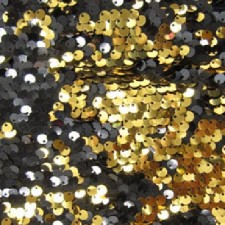 Paillet vendbar 5 mm Black/gold