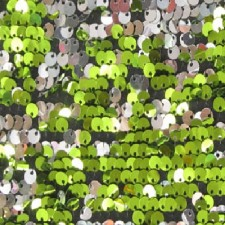 Paillet vendbar 5 mm Fluo green/silver
