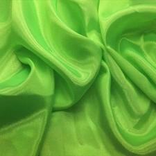 Satin chiffon Fluo green