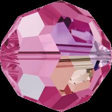 Crystal round bead 6 mm. Rose AB