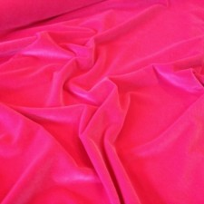 Plain velvet Flamingo pink