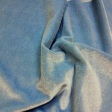 Plain velvet Iceblue