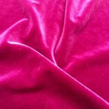 Plain velvet Fuchsia pink