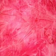 Batikfarvet velour Hibiscus/fluo pink