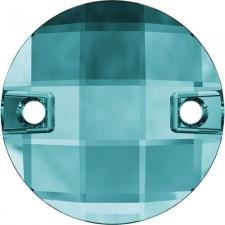 Chessboard 14 mm Blue zircon - Swarovski