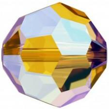 Crystal round bead 8 mm. Light Colorado Topaz Shimmer