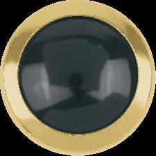 Crystal Half Pearls - Jet Hematite ss34 med guldkant