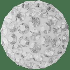 Swarovski - Halv perle med rhinsten - Crystal