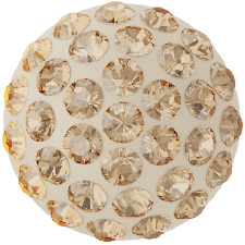 Swarovski - Halv perle med rhinsten - Golden Shadow