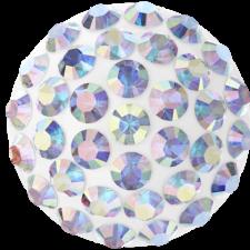 Swarovski - Halv perle med rhinsten - Crystal AB