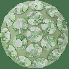 Swarovski - Halv perle med rhinsten - Peridot