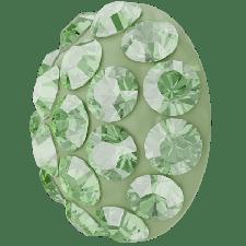 Halv perle med rhinsten - Peridot - 10 mm. - Swarovski