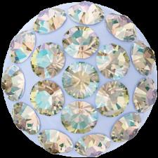 Swarovski - Halv perle med rhinsten - Light Sapphire Shimmer
