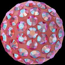 Swarovski - Halv perle med rhinsten - Light Siam Shimmer