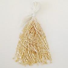 Twistet beads Gold