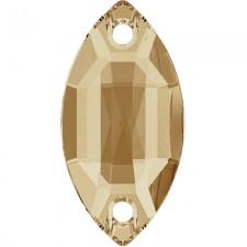 Navette 12x6 mm Crystal Golden Honey - Stellux