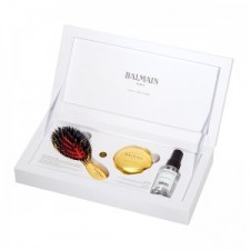 Balmain Hair - Luxurious Golden Spa Brush Mini & Golden Mirror