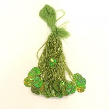 Beads med paillet Fluo green