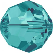 Crystal round bead 8 mm. Blue Zircon.