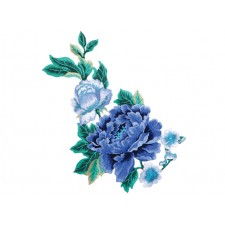 Cara Embroded flower Blue ---