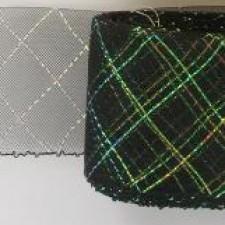 Crinoline 76 mm Black glitter