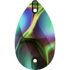 Drop 28x17 mm Crystal Rainbow Dark
