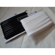 Elastik med silikone White 1 cm. bred