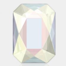 Emerald Cut 14 x 10 mm. Crystal AB uden huller fra Swarovski
