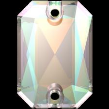 Emerald Cut 14 x 10 mm. Crystal AB fra Swarovski