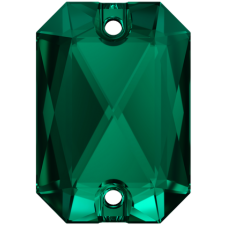 Emerald Cut 20 x 14 mm. Emerald fra Swarovski