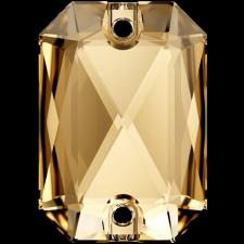 Emerald Cut 14 x 10 mm. Golden Shadow fra Swarovski
