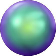 Crystal flat pearl. Scarabaeus Green ss16