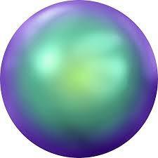 Crystal flat pearl. Scarabaeus Green ss34