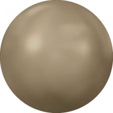 Crystal flat pearl. Bronze ss16