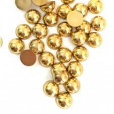 8 mm. Gold - Halve perler