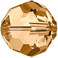 Crystal round bead 6 mm. Golden Shadow