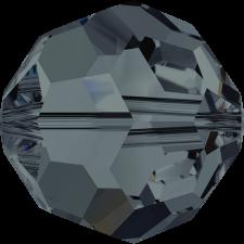 Crystal round bead 8 mm. Graphite