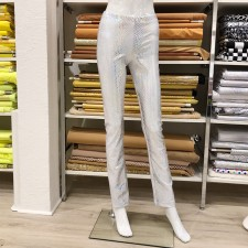 Glimmer bukser str. 14 år Hvid/sølv hologram