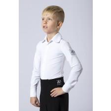 Drengeskjorte/body  i hvid ØKO lycra