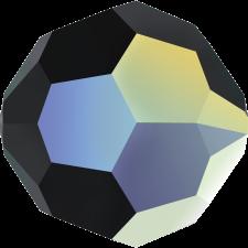 Crystal round bead 8 mm. Jet AB