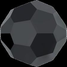 Crystal round bead 8 mm. Jet Hematite 'FC'