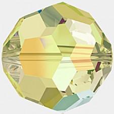 Crystal round bead 8 mm. Jonquil AB 'FC'