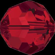 Crystal round bead 8 mm. Light Siam