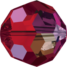 Crystal round bead 8 mm. Light Siam AB