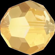 Crystal round bead 8 mm. Metallic Sunshine