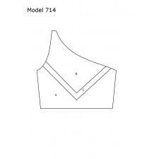 DesignMix Skråtop model 714