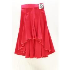 Nederdel i baner - Flou Red Lycra
