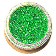 Glitter. Fluo green.